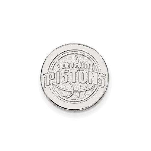 NBA Detroit Pistons Lapel Pin in 14K White Gold by LogoArt