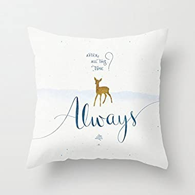 Decorbox Throw Pillow Cover Cushion Case Harry Potter Always - 45 X 45 cm Square Design
