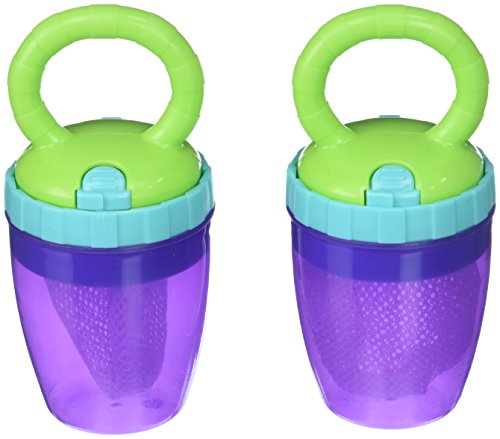 Sassy Fresh Food Teethers 6+ Months Alternative to Plastic Water-Filled Teethers, Reuse & Replace Mesh Bag, BPA-Free & Top-Rack Dishwasher - Sassy Teether