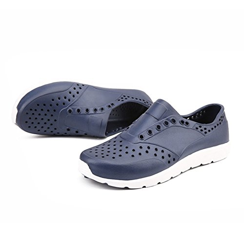 Shoes Beach White Red Blue 42 Size Size Lightweight New Men's Breathable Color Summer Out Casual Large Sandals Shoes Black Hollow Blue Shoes HUAN qxWa5g8Z45