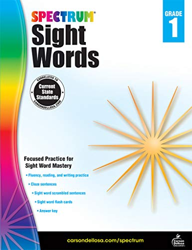 Spectrum Paperback Sight Word Book, Grade 1, Ages 6-7