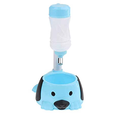 Sharplace Dispensador de Agua Botella Accesorios de Animales Doemsticos Fácil de Usar Elegante - Azul