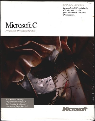 Microsoft C Professional Development System For Dos and OS/2 Systems 6.00