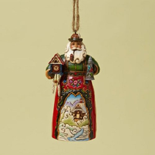 "Creek German Santa Stone Resin Hanging Ornament, 4.75"" ()"