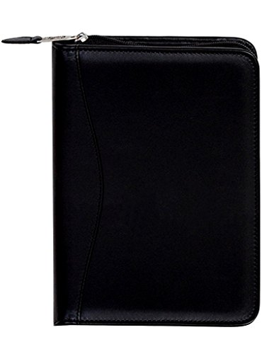 Scully Plonge Leather Zip Weekly Planner (Black) by SCULLY ITALIA