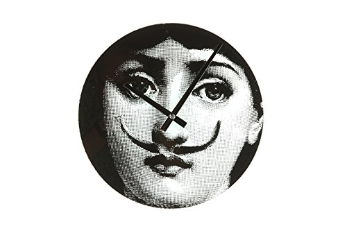 Stilnovo Mid Century Girl Moustache Wall Clock,