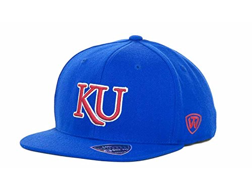 Kansas Jayhawks NCAA Top Of The World Slam One-Fit Stretch-Fitted Royal Blue Cap Hat (Large/X-Large)