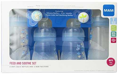 Mam Feed Amp Soothe Bottle Amp Pacifier Gift Set Boy 0