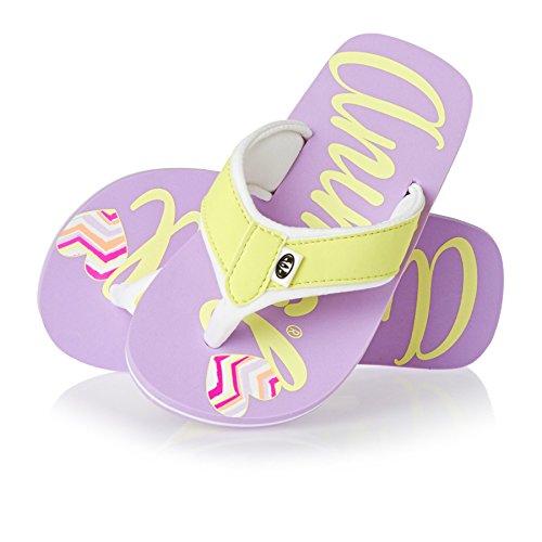 Logo Animal Swish tongs fille–Lilas Violet