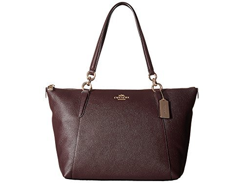 COACH Women's Crossgrain Ava Tote Im/Oxblood One Size