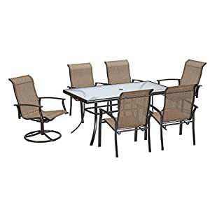 7 Piece Dining Set Perfect for Any Outdoor Dining Set Needs. This Is One of Many Dining Table Sets on Sale. Patio Dining Sets Are Great for Backyard Parties. Outdoor Dining Sets Accentuate Your Backyard. Outdoor Dining Table Sets Are a Must.