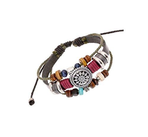 (Most Beloved Mens / Womens Unisex Bracelet Leather Multilayer Braided Adjustable Size Bracelets)