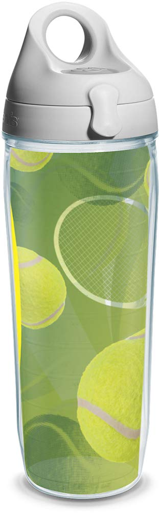 Tervis Tennis Balls Wrap and Water Bottle with Grey Lid, 24-Ounce, Beverage by Tervis: Amazon.es: Hogar