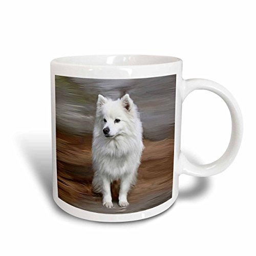 3dRose American Eskimo Toy Dog Mug, 15-Ounce