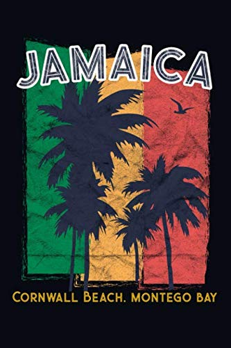 Jamaica Cornwall beach, Montego Bay: 6x9 Jamaican themed travel size journal notebook diary for doodling, writing, journaling, recording your thoughts.