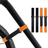 4 Pcs Reusable Bike Wheel Strap Adjustable Bike