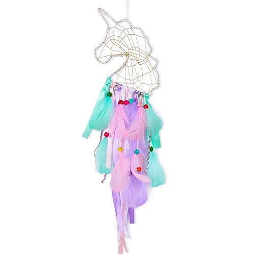 QtGirl Unicorn Dream Catcher Handmade Feather Dream Catchers for Girls, Unicorn Room Decor Wall Hanging Home Decoration for Kids Bedroom]()