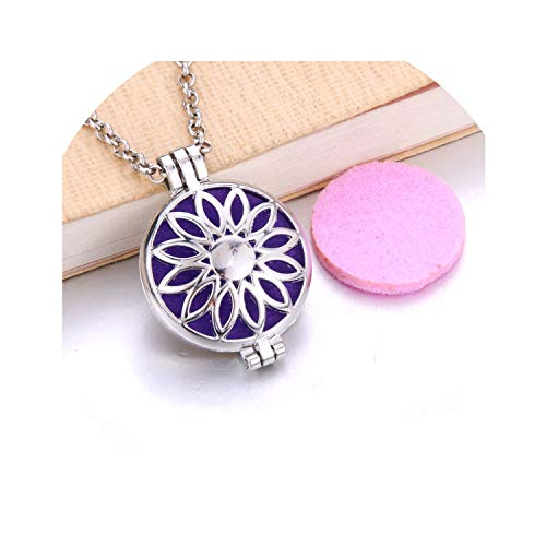 - Fashion Wave Perfume Diffuser Necklace Perfume Essential Oil Diffuser Aromatherapy Vintage Locket Pendant Necklace Women Jewelry,L