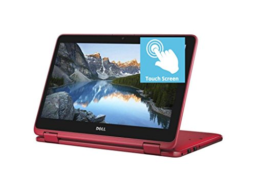 2018 Flagship Dell Inspiron 11.6″ HD Touchscreen 2 in 1 Business Laptop/Tablet, AMD Dual Core A9-9420e 8GB DDR4 512GB SSD AMD Radeon R5 MaxxAudio Bluetooth 802.11bgn HDMI Webcam USB 3.1 Win 10 -Red
