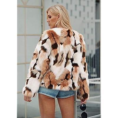 Sexy Short Faux Fur Coat for Women, Fashion Party Queen Fuzzy Cardigan Shaggy Outerwear at Women's Coats Shop