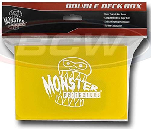 - Monster Protectors Trading Card Double Deck Box with Magnetic Closure - Yellow (Fits Yugioh, Pokemon, Magic the Gathering Cards)