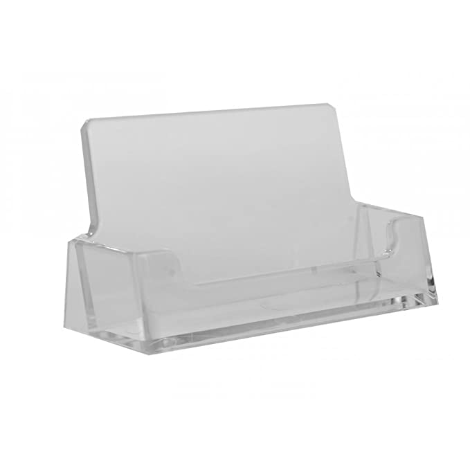 Acrylic business card holder amazon kitchen home reheart Image collections