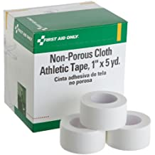 """First Aid Only 1"""" X 5 Yd. Non-porous Cloth Athletic Tape Roll, 10-Count Box"""