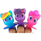 My Little Pony Twilight Sparkle Pinky Pie and Rainbow Decorated Lollipop Rings (1 Pack- 3 Rings)