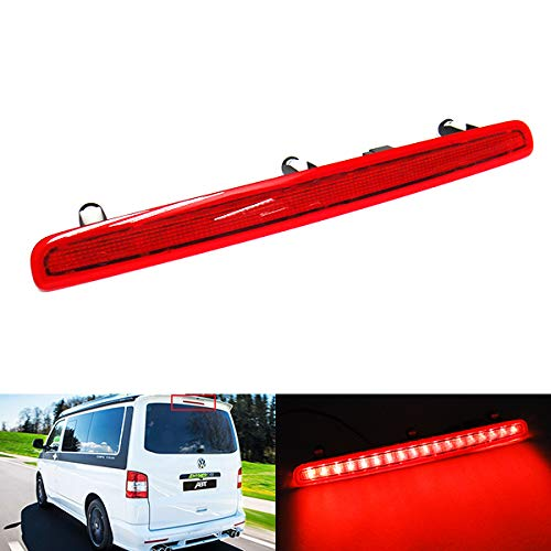 Red Lens LED Rear Tailgate High Level Centre Third Brake Stop Light For 2003-15 Volks Transporter T5 Caravelle Multivan MK V RZG