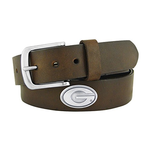 NCAA Georgia Bulldogs Brown Leather Concho Belt, 38