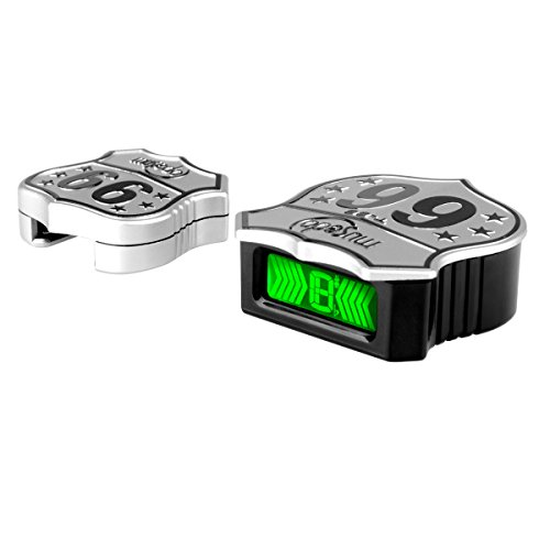 Guitar Tuner, Chromatic Tuner Locks and Ornament Guitar Strap, Mini Portable Strap Buckle Tuner Easy Use on a Gig, plastic silver, by LC Prime (Orchestral Tuner Chromatic)