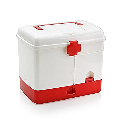 Ajusen First Aid Box Extra Large Household Medical Storage Case Safe Storage Containers Multifunctional For Home  sc 1 st  Amazon.com & Amazon.com: Ajusen First Aid Box Extra Large Household Medical ...
