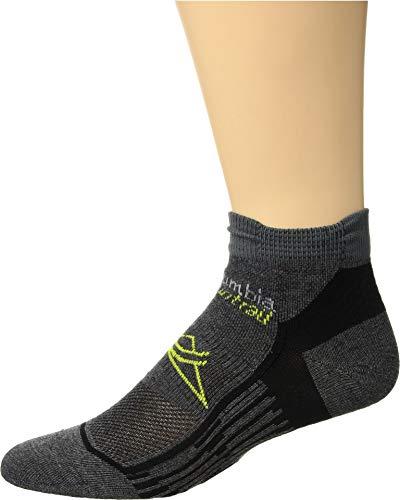 Columbia Unisex Trail Running Nilit Breeze Lightweight Low Cut Socks 1-Pack Charcoal Large