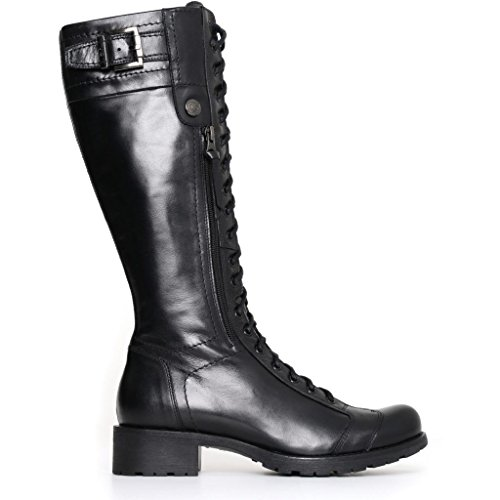 Nero Giardini Femme Bottes Amphibies Noires A719861d Chaussures En Cuir D'hiver 2018, Eu 40