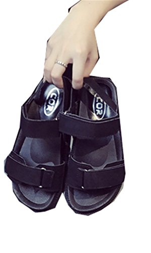 YINUO レディース サンダル 厚底 フラットシューズ シンプル ファッション フォーマル スポーツ 歩きやすい