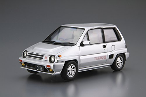 Amazon.com: Aoshima Bunka Kyozai 1/24 The model Car Series No.60 Honda AA City turbo 2 1985 Model Car: Toys & Games