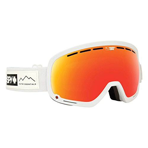 Spy Optic Unisex Marshall Essential White/Happy Gray Green/Red Sepctra/Happy Yellow/Lucid One Size (Spy Optic Marshall Goggles Lens)