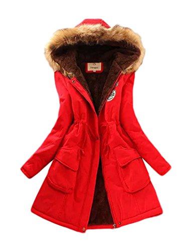 Gran tamaño Ocio Casual abrigo las mujeres de Red XL