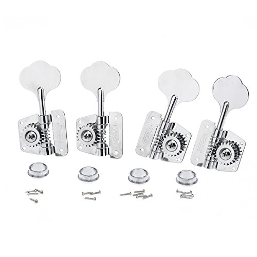 (Wilkinson 2x2 70s Vintage Style Bass Tuners Tuning Pegs Keys Machine Heads Set for Bass,)