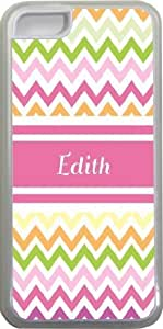 """NADIA Magic Diy """"Edith"""" Pink Chevron Name Design iPhone 5c case cover for sVfaIGSyiS1 Apple iPhone 5c sell on Zeng case cover"""