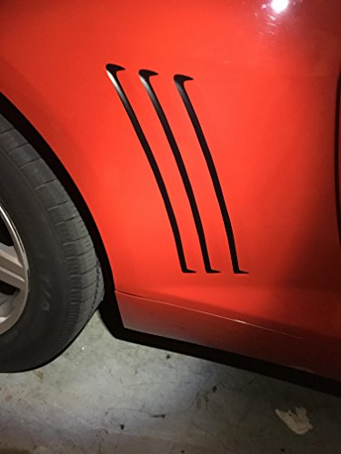 (Camaro Gill Decals, Chevy Matte Black Vent Stickers, Please Message Us Your Color Choice (Default: Matte Black))
