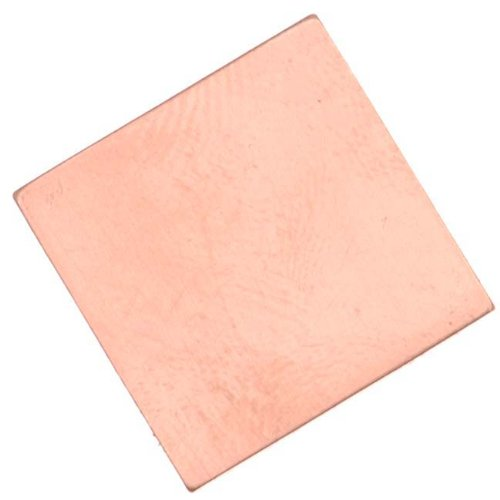 Solid Copper Blank Stampings No Hole Square 19mm (4)