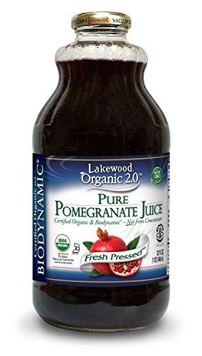 Organic Pomegranate Juice - Lakewood Organic Biodynamic Juice, Pure Pomegranate, 32 Ounce (Pack of 6)