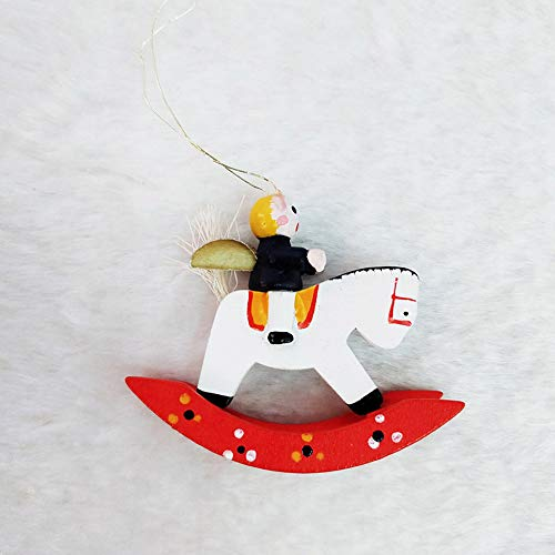 Muñeco navideño de Papá Noel, juego de 24 Papá Noel, muñeco de nieve, Ángeles en miniatura de madera Adornos de Navidad...