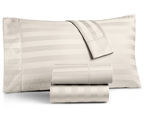 Charter Club Damask Stripe Queen 4-Pc Sheet Set, 550 Thread Count Pure Supima Cotton