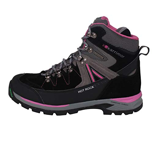 Pink Boots Womens Karrimor Hot Charcoal Ladies Weathertite Walking Rock Trekking Waterproof fxFOSqw