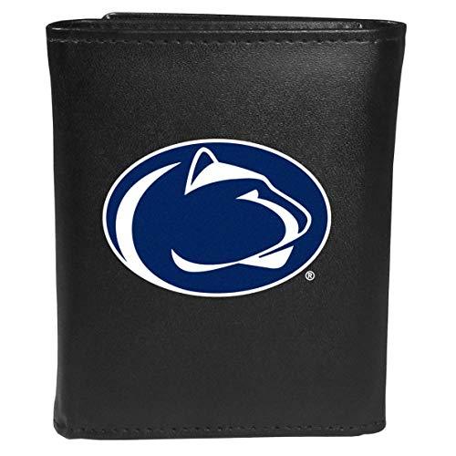 Siskiyou NCAA Penn State Nittany Lions Unisex SportsLeather Tri-fold Wallet, Large Logo, Black, One Size