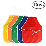 NUOLUX 10PCS Children's Artists Fabric Aprons for Kitchen, Classroom, Community Event, Crafts Art Painting Activity