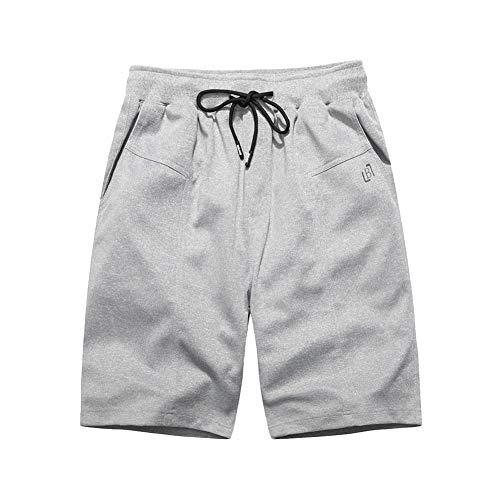 Fashion Men's Casual Plain Color Sports Shorts Home Pants Ripped Shorts Short menshorts 5 inch inseamguys in Shorts Shorts Size 38 Gray