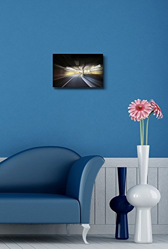Driving on The Night Road Speed Concept Motion Blur Wall Decor